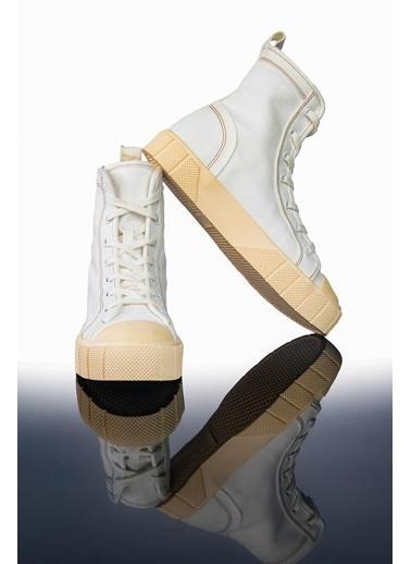 Letoon Ltn2021 Yüksek Bıleklı Spor Ayakkabı Beyaz